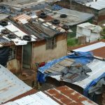 Tin made huts in a township